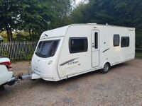 2011 Lunar Lexon SB 4 berth caravan FIXED SINGLE BEDS, MOTOR MOVER, AWNING ! January Sale