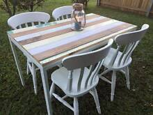 Cafe-inspired reclaimed timber 5 piece dining setting Wavell Heights Brisbane North East Preview