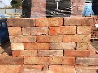 68MM HANDMADE WEATHERED RECLAMATION RED STOCK BRICKS