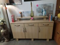 Modern beech sideboard Copley Mill LOW COST MOVES 2nd Hand Furniture STALYBRIDGE SK15 3DN