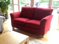 Excellent condition deep red sofa