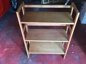 Fold away wooden 3 Shelf bookcase
