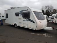 2012 Sterling Europa 550 4 berth caravan FIXED BED, MOTOR MOVER AWNING ! January Sale