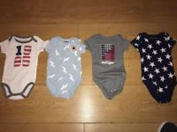 BABY BOYS/GIRLS 3-6 MONTHS VESTS 3 BY TOMMY HILFIGER + 1 BY CONVERSE