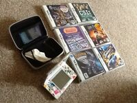 Nintendo ds console and 6 games