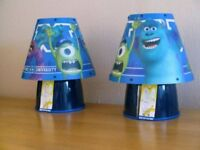 Brand New Pair of Children's MONSTERS Inc Lamps