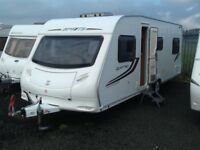 2010 sprite Quattro 6 berth fixed bed DINNETTE with fitted mover twin axel