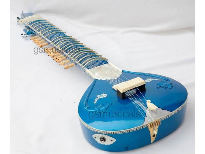 SITAR FUSION ELECTRIC WITH FIBERGLASS CASE GSM032 C