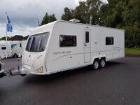 Bailey Senator Wyoming 4 berth caravan, FIXED BED, Awning, Twin axle Bargain !!