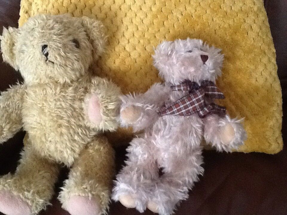 2 Teddies . Moveable arms and Legs