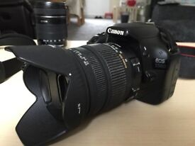 Canon 550d DSLR Camera plus 3x Batteries and Neck Strap Body Only