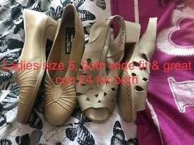 X2 PAIRS OF LADIES SHOES