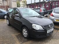 VW Polo 1.2ltr 3 door in Jet black lovely condition inside & out brand new MOT just been serviced
