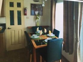 3 bed central heated caravan to hire on valley farm