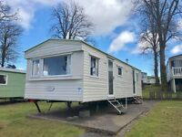 CHEAP STATIC CARAVAN FOR SALE WITH STUNNING SEA VIEW NEAR AYR , AYRSHIRE, WEST COAST OF SCOTLAND