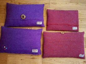 Harris Tweed Homemade Cushions x4