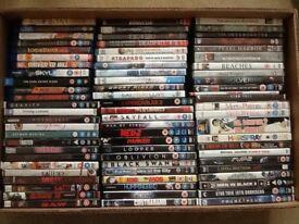 190 PLUS DVDS , 50p EACH OR £60 JOB LOT