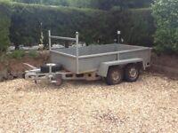Metal double wheel base galvanised 8ft x 5 ft trailer