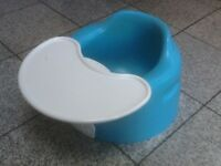 £15- Bumbo seat with detachable tray/table-great condition-no damage-washed and cleaned