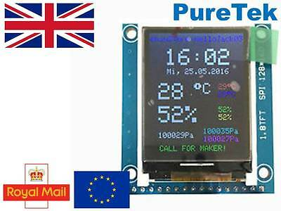 1.8 St7735r Spi 128 X160 Tft Lcd Display Module Breakout For Arduino Rpi Etc