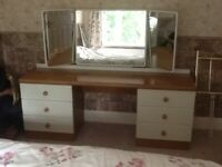 STAG light oak dressing table and full length mirror