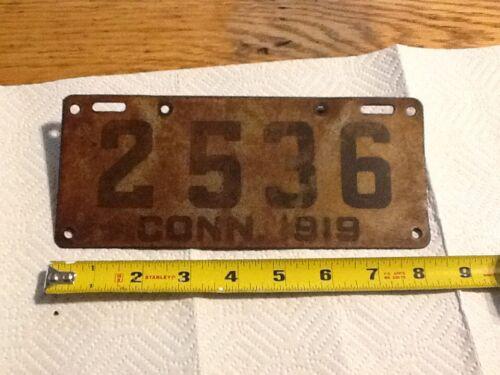 Vintage motorcycle license plate