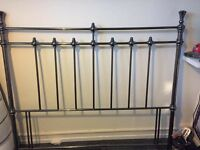 King size metal headboard frame in great condition.