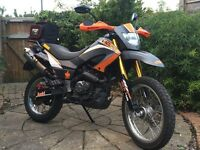 125cc 4 Stroke Enduro motorcycle 2013. M.O.T 21/10/2017. 16k miles. Very Good Condition