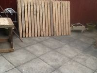 30ft x 4ft high Wood fence and posts