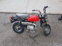 49cc monkey bike - mini tail great wee bike for caravans and camper motorhomes
