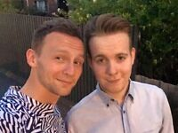 Gay British couple looking for a room in Glasgow