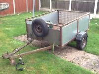 TRAILER 5x4 DROP TAILGATE , ALLY BOTTOM 3/4 TON INDESPENSION UNITS , NEW TYRES.