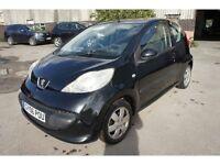 Peugeot 107 active 1 liter Petrol manual 3-door 69k £20 a year tax