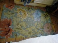 Fantasy series hooked rug - William Morris look. 3.5 x 5.5 ft