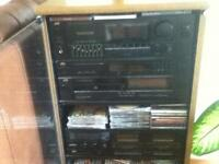 JVC Hi-Fi system line with speakers