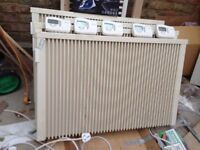 For sale 3 ENG (German) Electric wall-mount heaters with wireless thermostats.