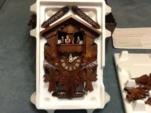 The Danbury Mint The Black Forest Cuckoo Clock New Open Box