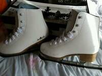 SFR White Figure Skates