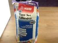 Bag if tile adhesive