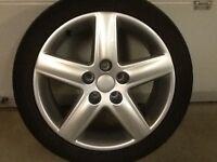 17INCH 5/112 GENUINE AUDI ALLOY WHEELS WITH TYRES FIT VW SEAT SKODA ETC