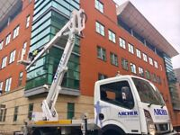 CHERRY PICKER HIRE MCR - 25M WITH IPAF TRAINED OPERATIVE