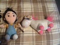 Bisicable me talking Agnes doll and Agnes soft doll with unicorn
