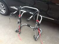 £30 Ono. Selling a halfords 3 bike carrier, nearly new, fits rear of car.