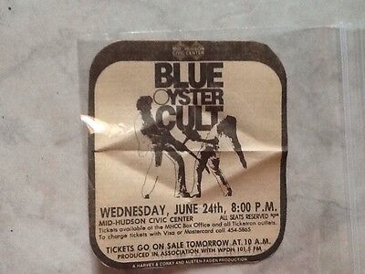 1981 Blue Oyster Cult June 24 Concert Newspaper Clipping Ad Very Rare Vintage