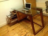 Contemporary Glass topped Office Desk for sale