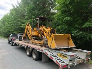 Flatbed Float Service Tractors Backhoes Equipment Freight