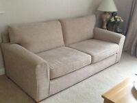 Next Sofa, cream in colour, barely used