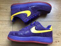 nike Air Force 1 purple and yellow la