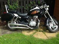 125 cc motorbike cruiser style
