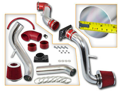 BCP RED 01-06 Chrysler Sebring/Dodge Stratus 2.4/3.0L Cold Air Intake + Filter ()